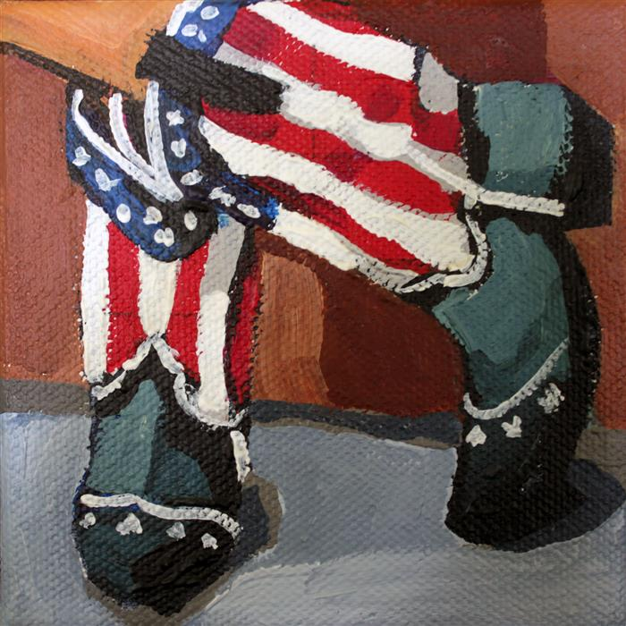 Discover Original Art by Melinda Patrick | Old Glory Boots acrylic painting | Art for Sale Online at UGallery