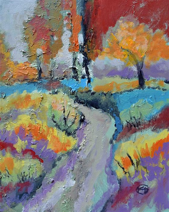Discover Original Art by Kip Decker | Bend In The Road acrylic painting | Art for Sale Online at UGallery