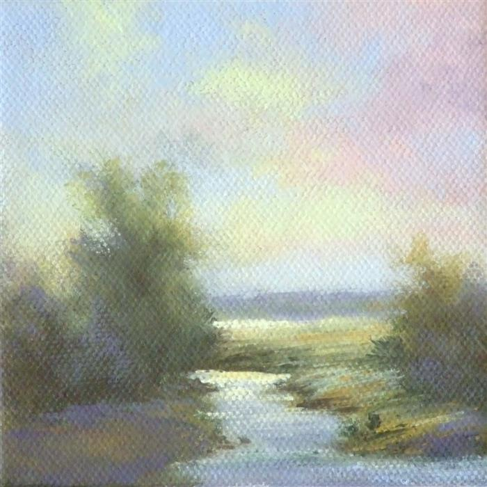 Discover Original Art by Gail Greene | Along the Creek oil painting | Art for Sale Online at UGallery