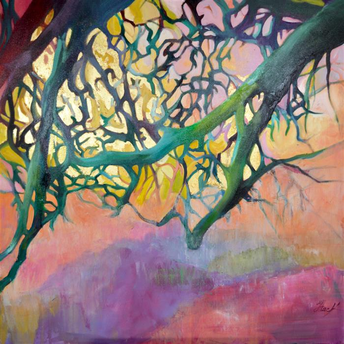 Discover Original Art by Julia  Hacker | Singing Trees 14 oil painting | Art for Sale Online at UGallery