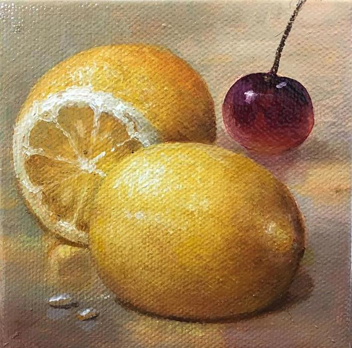 Discover Original Art by Nikolay Rizhankov | Lemons oil painting | Art for Sale Online at UGallery