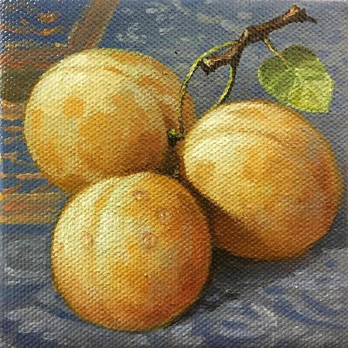 Discover Original Art by Nikolay Rizhankov | Plums oil painting | Art for Sale Online at UGallery