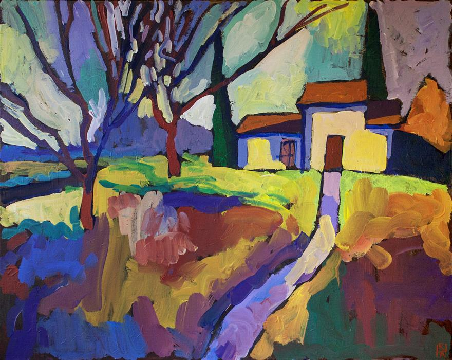 Discover Original Art by Robert Hofherr | On the Edge of Town acrylic painting | Art for Sale Online at UGallery