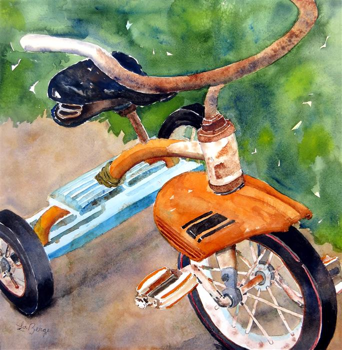 Discover Original Art by Nancy Muren | Low Rider watercolor painting | Art for Sale Online at UGallery