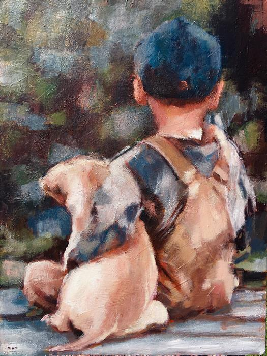 Discover Original Art by Nava Lundy | Buddies acrylic painting | Art for Sale Online at UGallery