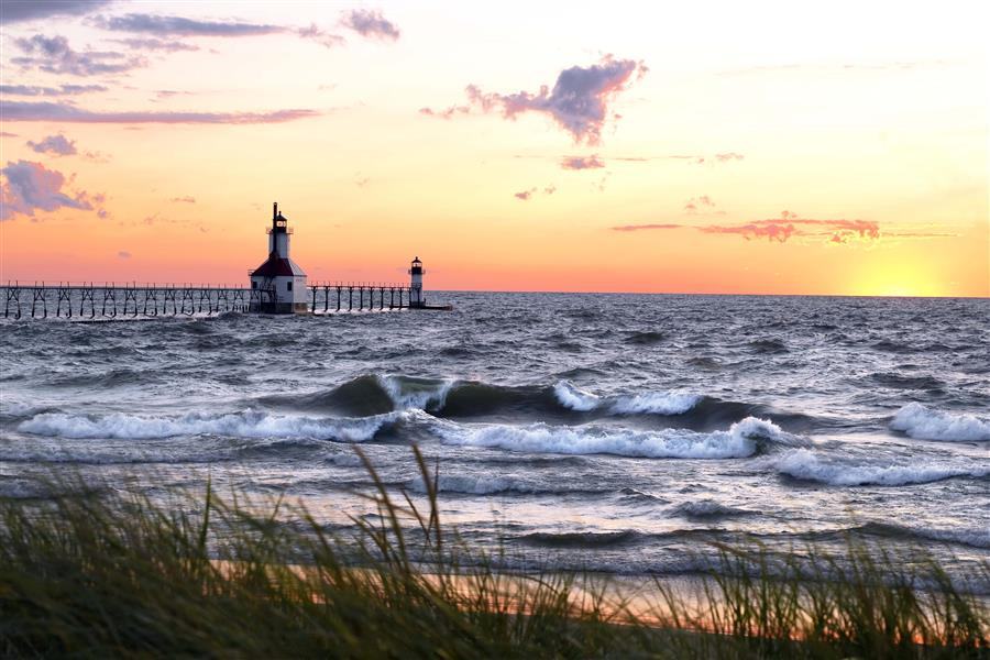Original art for sale at UGallery.com | Sunset in Michigan by NOELLE VISCONTI | $195 |  | ' h x ' w | \art\photography-Sunset-in-Michigan
