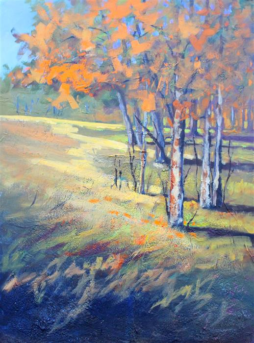 Discover Original Art by Nancy Merkle | Bloedel Autumn acrylic painting | Art for Sale Online at UGallery