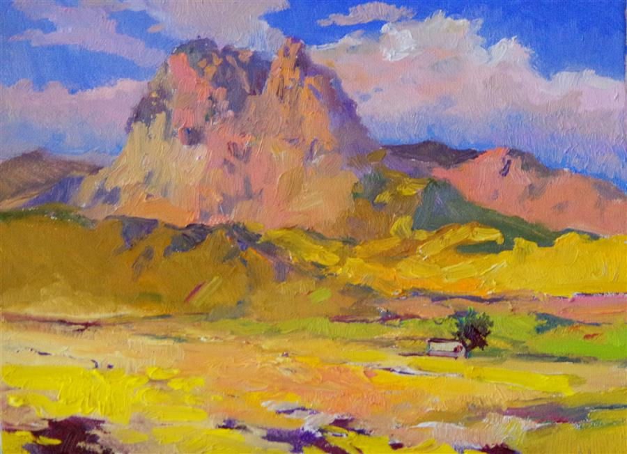 Discover Original Art by Suren Nersisyan | Sunny Day, Landscape in Arizona oil painting | Art for Sale Online at UGallery