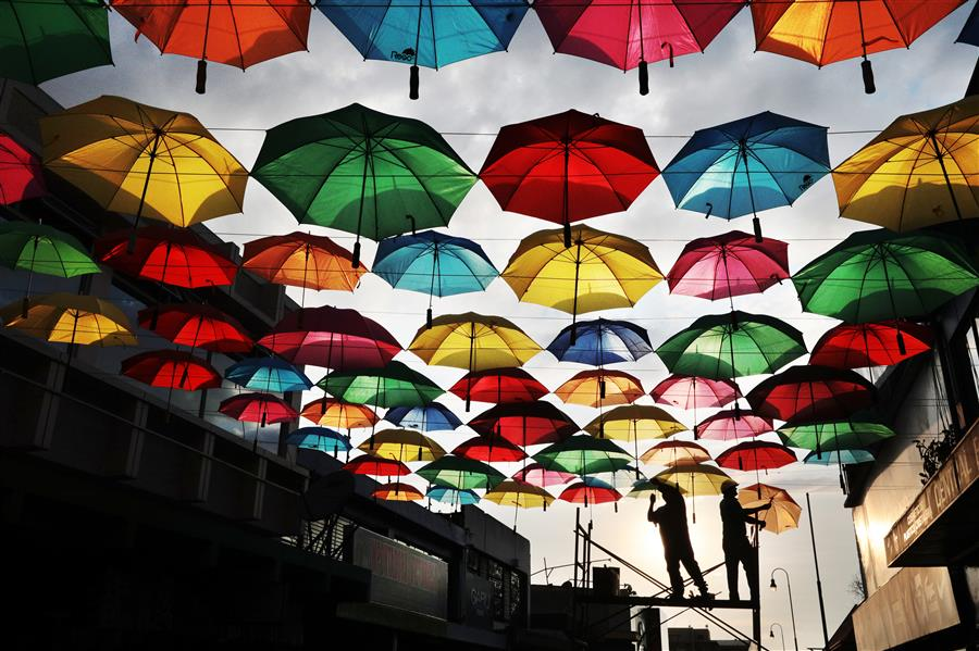 Discover Original Art by Maria Plotnikova | Colored Umbrellas photography | Art for Sale Online at UGallery