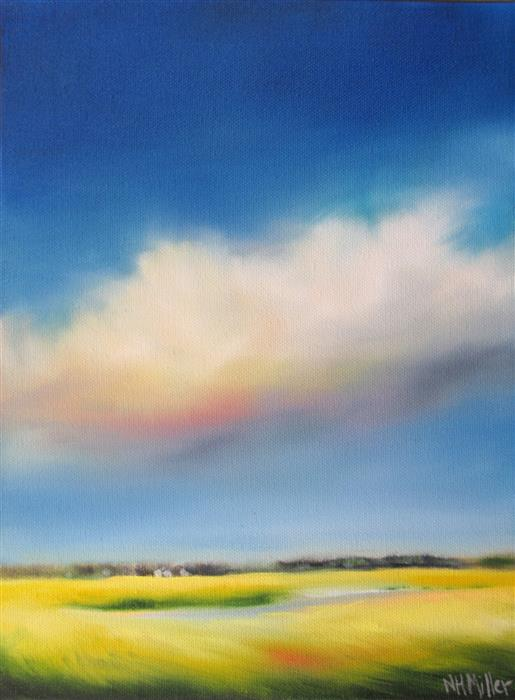Discover Original Art by Nancy Hughes Miller | Lofty Marsh Cloud oil painting | Art for Sale Online at UGallery