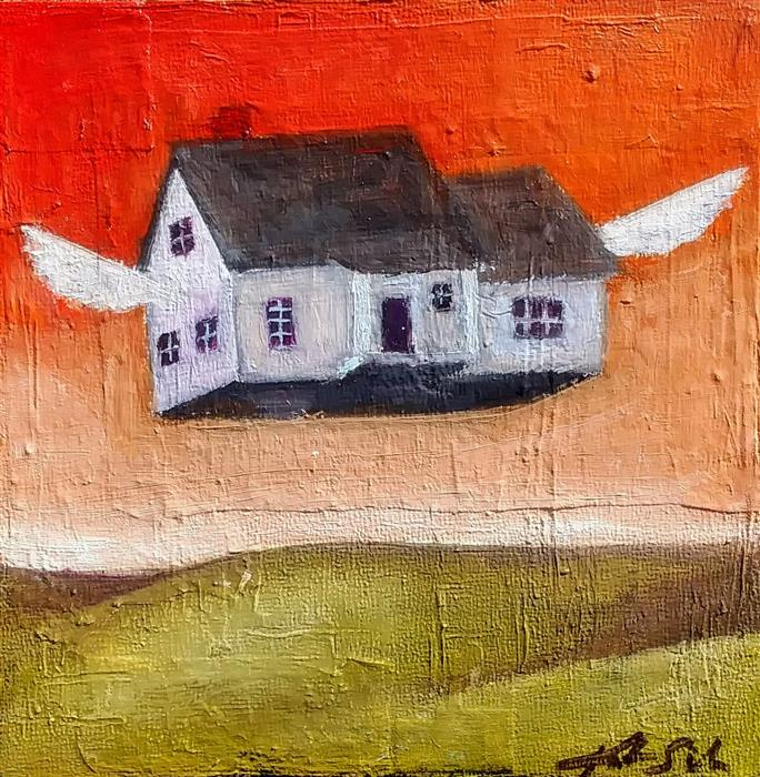 Discover Original Art by Kat Silver | Fly Far Far Away oil painting | Art for Sale Online at UGallery