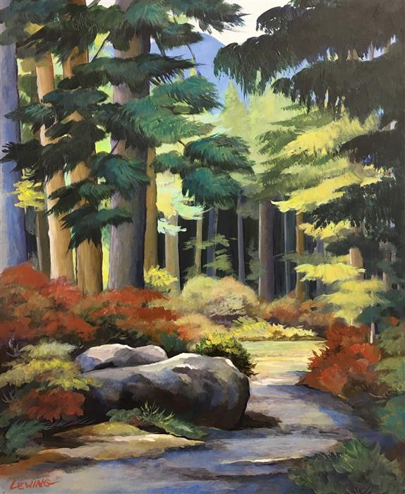 Discover Original Art by Paul Lewing | Pilchuck Trail acrylic painting | Art for Sale Online at UGallery