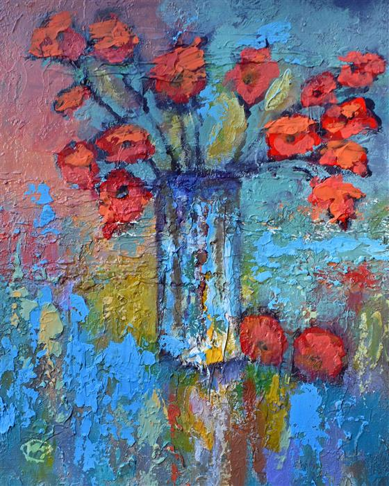 Discover Original Art by Kip Decker | Flowers acrylic painting | Art for Sale Online at UGallery