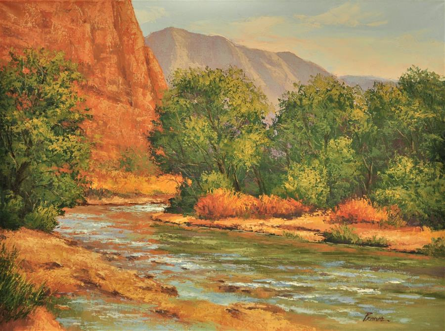 Discover Original Art by Robert Pennor | Virgin Riverbend oil painting | Art for Sale Online at UGallery