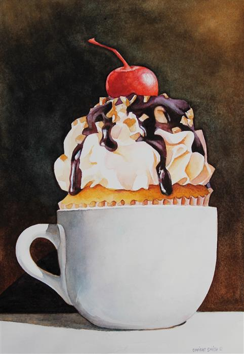 Discover Original Art by Dwight Smith | With Cream and Sugar... watercolor painting | Art for Sale Online at UGallery