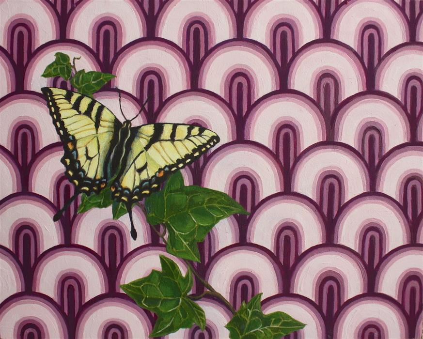 Discover Original Art by Jennifer Wildermuth Reyes | Papilio Machaon oil painting | Art for Sale Online at UGallery