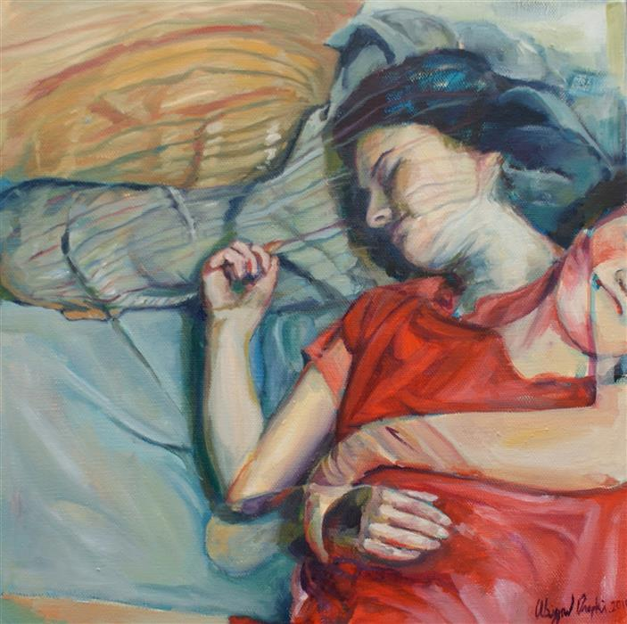 Discover Original Art by Abigail Drapkin | Sleepfulness oil painting | Art for Sale Online at UGallery