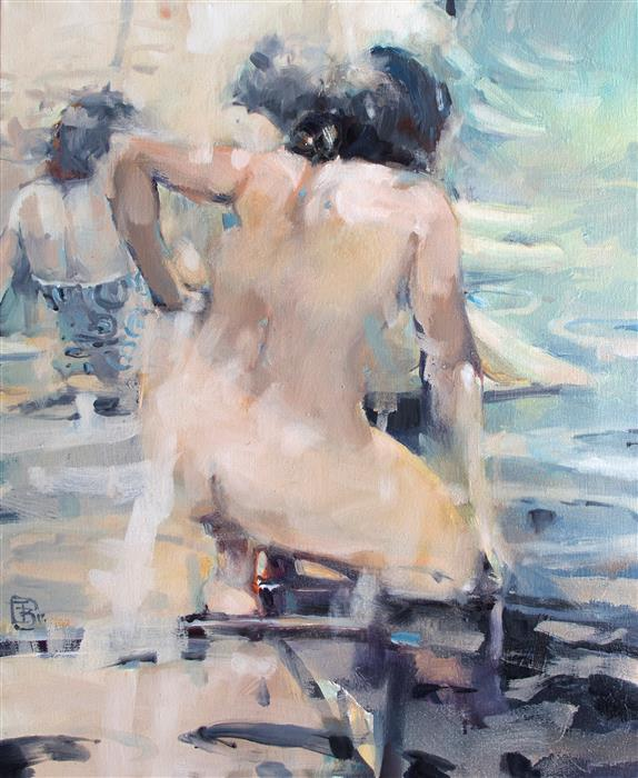 Discover Original Art by Tony Belobrajdic | Italian Bathers 1 oil painting | Art for Sale Online at UGallery