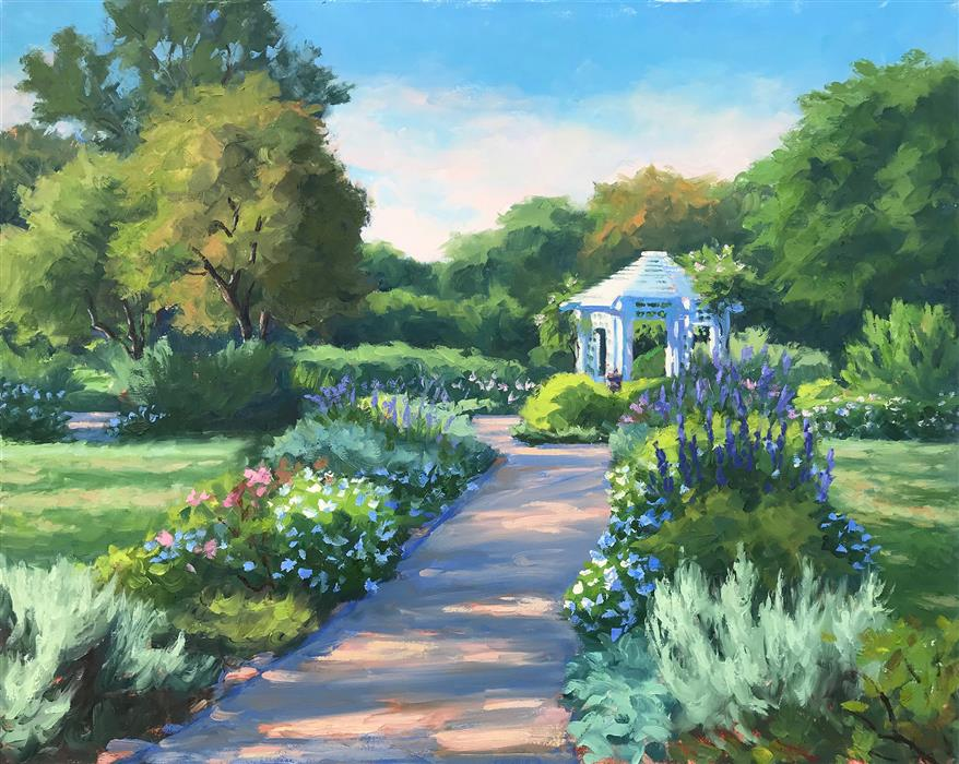Discover Original Art by Jennifer Young | Late September, Grace Arents Garden oil painting | Art for Sale Online at UGallery
