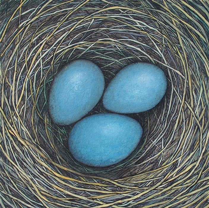 Discover Original Art by Jennifer Ross | In Our Nest mixed media artwork | Art for Sale Online at UGallery