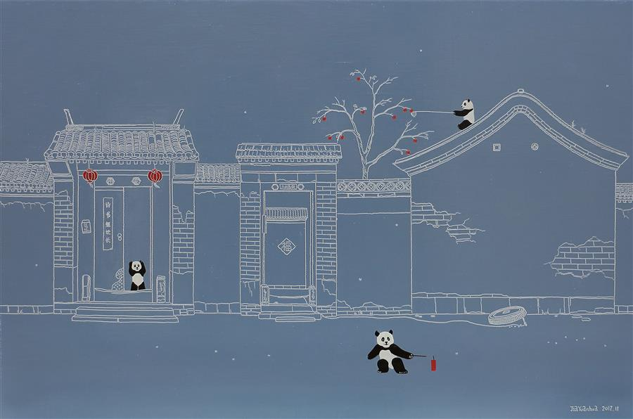Discover Original Art by Yuan Hua Jia | Little World No.4 oil painting | Art for Sale Online at UGallery