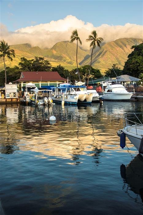 Original art for sale at UGallery.com | Hawaiian Harbor Sunset by ABHI GANJU | $145 |  | ' h x ' w | \art\photography-Hawaiian-Harbor-Sunset
