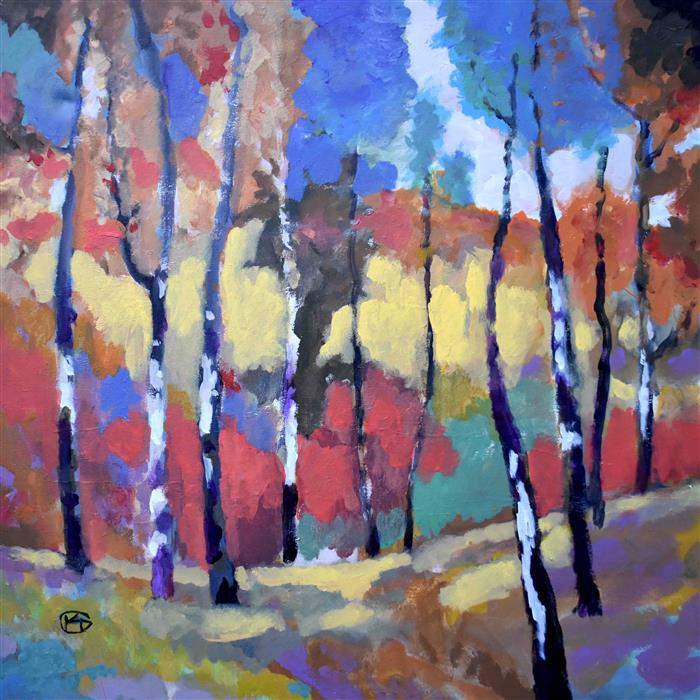 Discover Original Art by Kip Decker | Woodland Colors acrylic painting | Art for Sale Online at UGallery