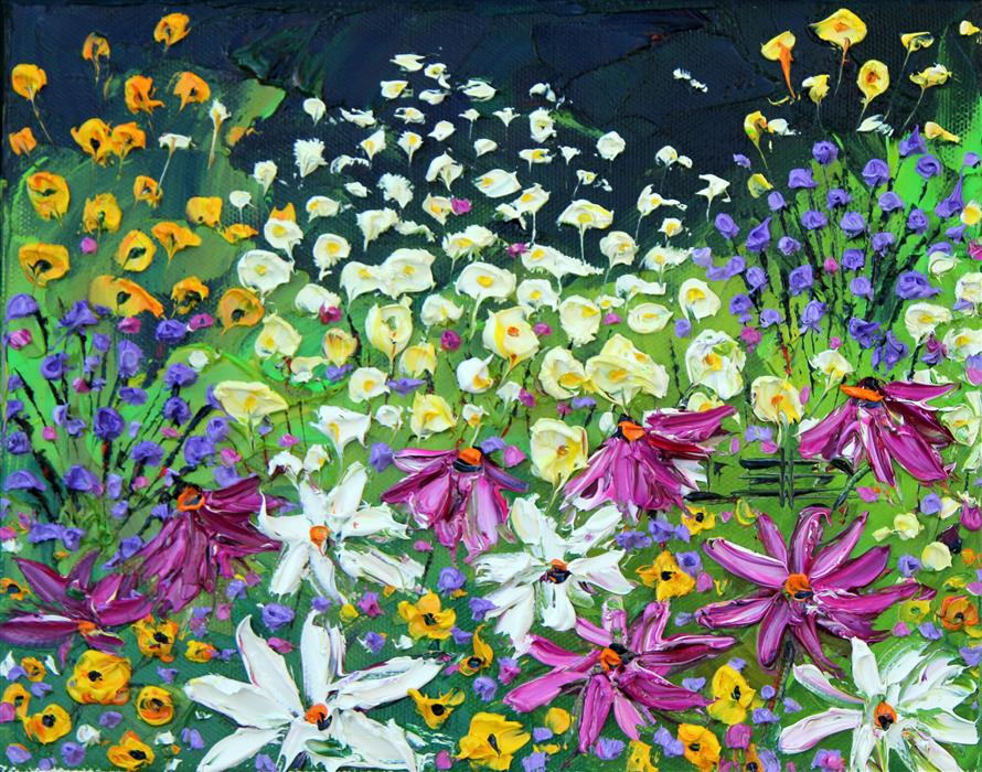 Discover Original Art by Lisa Elley | Springtime! oil painting | Art for Sale Online at UGallery