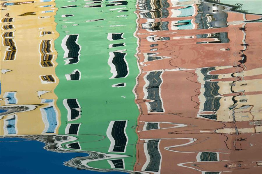 Original art for sale at UGallery.com | Burano Reflections by KIMBERLY POPPE | $145 |  | ' h x ' w | \art\photography-Burano-Reflections