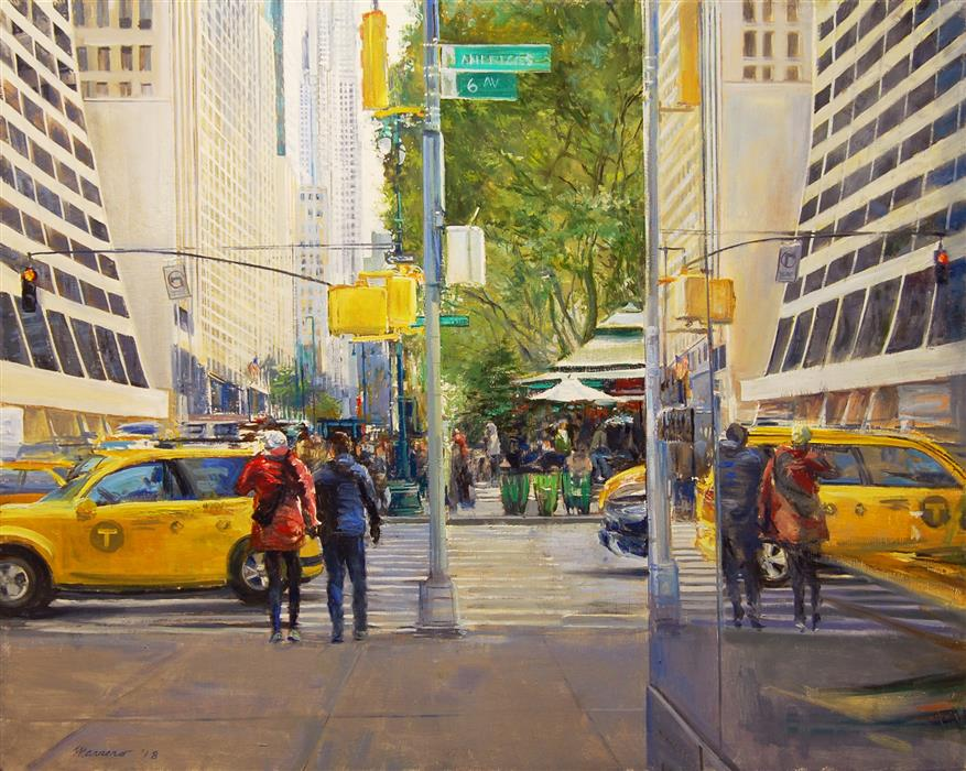 Discover Original Art by Onelio Marrero | City of Mirrors oil painting | Art for Sale Online at UGallery