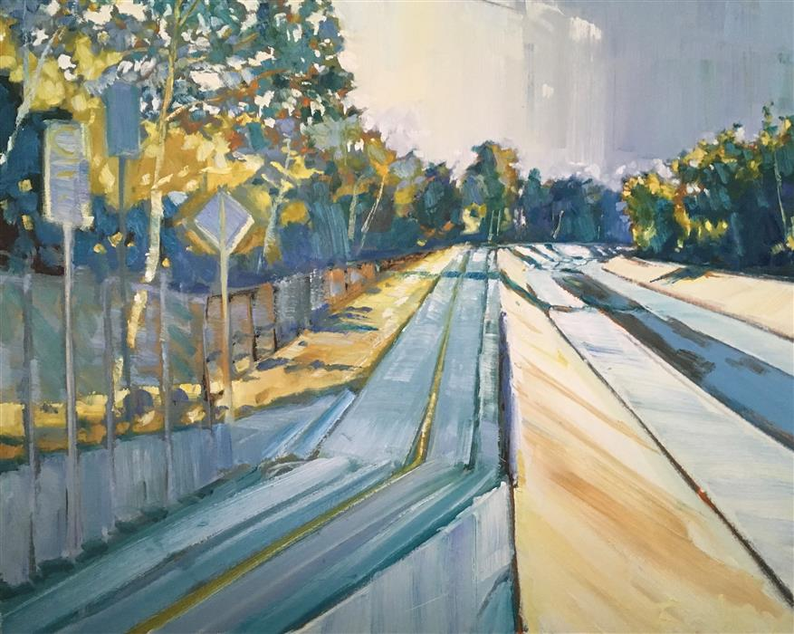 Discover Original Art by Nicholas Coley | San Gabriel River oil painting | Art for Sale Online at UGallery