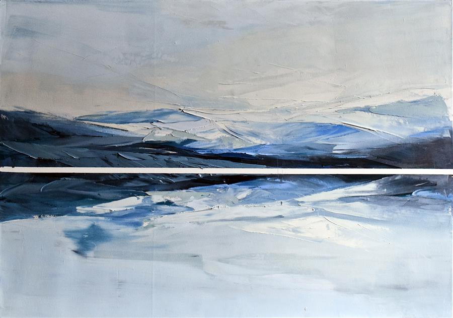 Discover Original Art by Karina Antonczak | Lake 16 oil painting | Art for Sale Online at UGallery