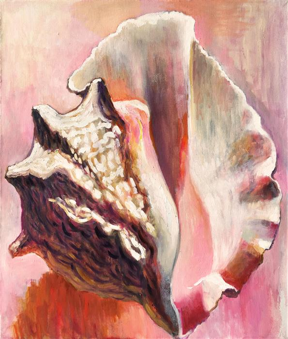 Discover Original Art by Petr Ldin | Sensual Seashell oil painting | Art for Sale Online at UGallery