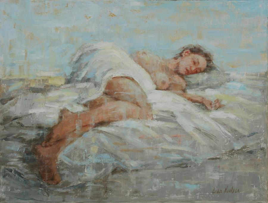 Discover Original Art by Lisa Nielsen | Restful II oil painting | Art for Sale Online at UGallery