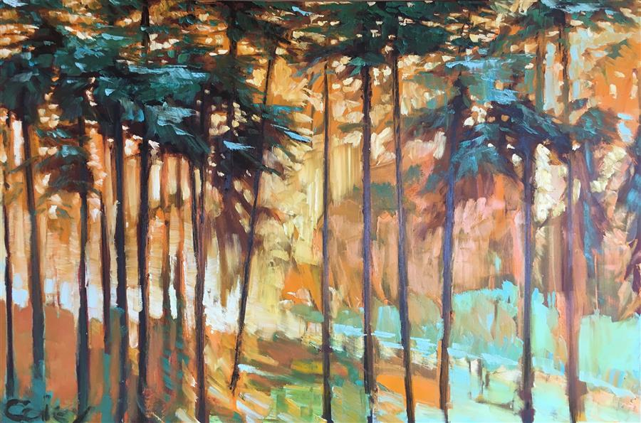 Discover Original Art by Nicholas Coley | Presidio Grove #84 oil painting | Art for Sale Online at UGallery