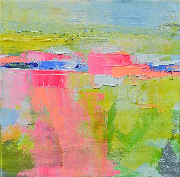 Discover Original Art by Patrick O'Boyle | Landscape Abstraction Yellow mixed media artwork | Art for Sale Online at UGallery