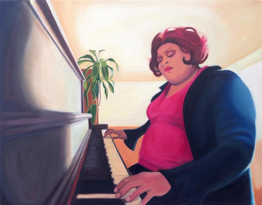 Discover Original Art by Hadley Northrop | The Pianist oil painting | Art for Sale Online at UGallery