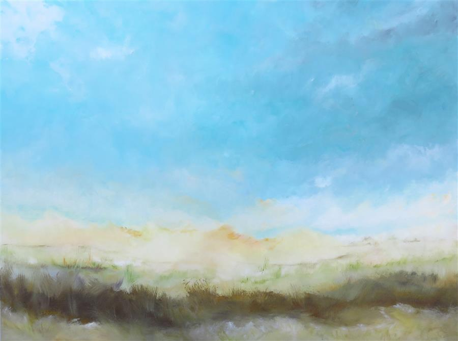 Discover Original Art by Jenn Williamson | Grasslands I acrylic painting | Art for Sale Online at UGallery