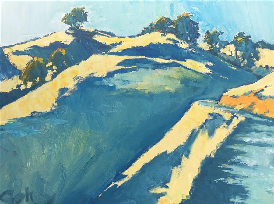 Discover Original Art by Nicholas Coley | Steep Ravine #4 oil painting | Art for Sale Online at UGallery