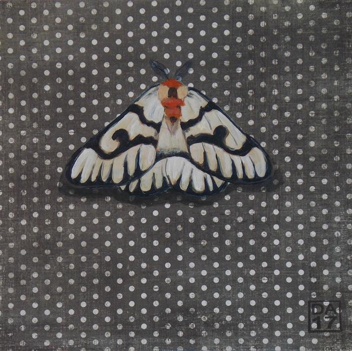 Discover Original Art by Dana Aldis | Hera Buck Moth acrylic painting | Art for Sale Online at UGallery