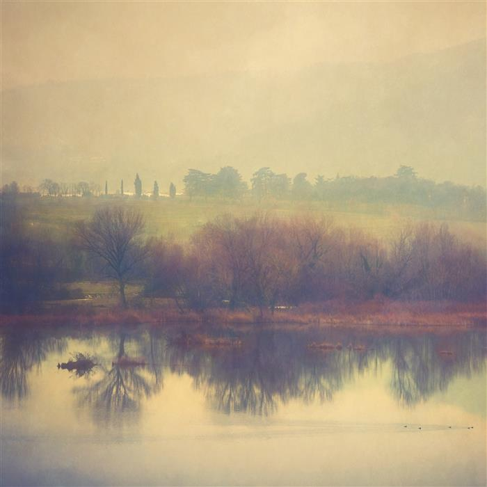 Original art for sale at UGallery.com | Shapes In Nature: Cloudy Afternoon At A Pond by FABIO SOZZA | $285 |  | ' h x ' w | \art\photography-Shapes-In-Nature-Cloudy-Afternoon-At-A-Pond