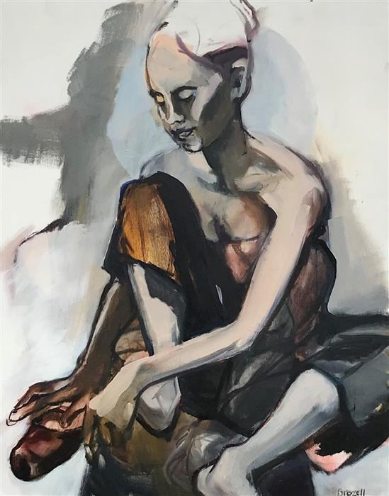 Discover Original Art by Liz Brozell | Pointe Shoes oil painting | Art for Sale Online at UGallery