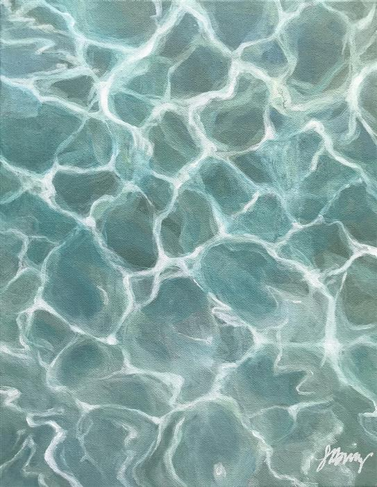 Discover Original Art by Laura Browning | Poolside oil painting | Art for Sale Online at UGallery