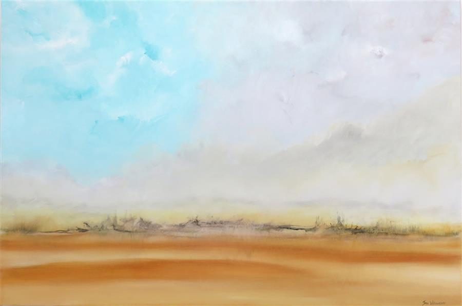 Discover Original Art by Jenn Williamson | Desert Haze acrylic painting | Art for Sale Online at UGallery