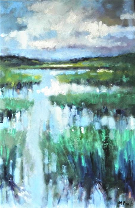 Discover Original Art by Mary Pratt | Bright Marsh oil painting | Art for Sale Online at UGallery