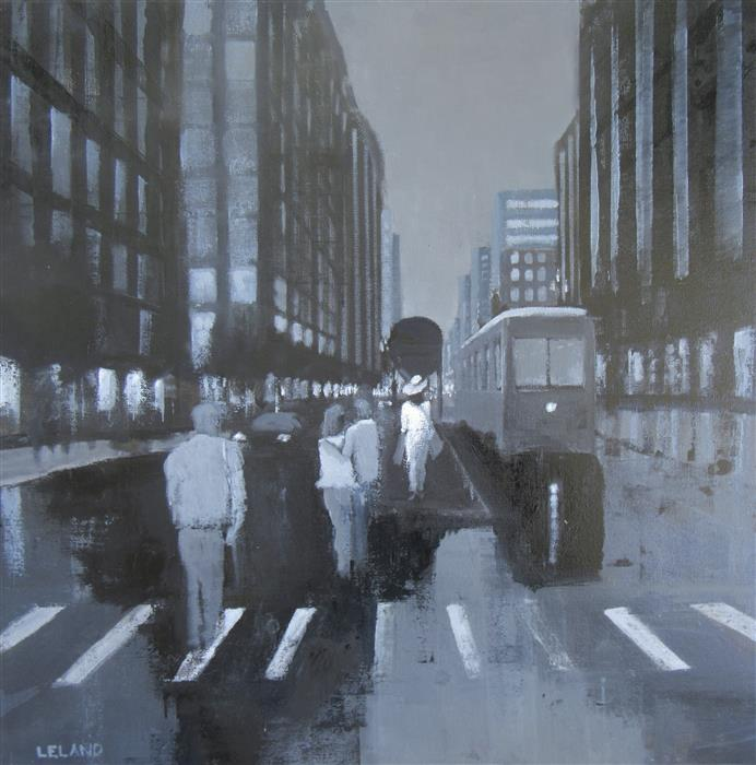 Discover Original Art by Jim Leland | Night Train oil painting | Art for Sale Online at UGallery