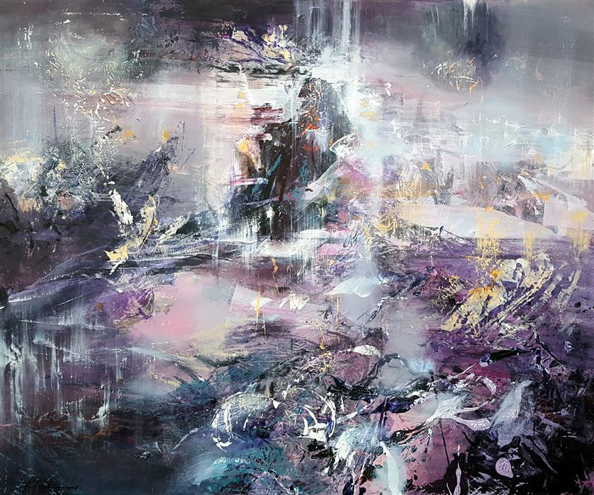 Discover Original Art by Kloska Ovidiu | A Way to Infinity 8: Large Mindscape acrylic painting | Art for Sale Online at UGallery
