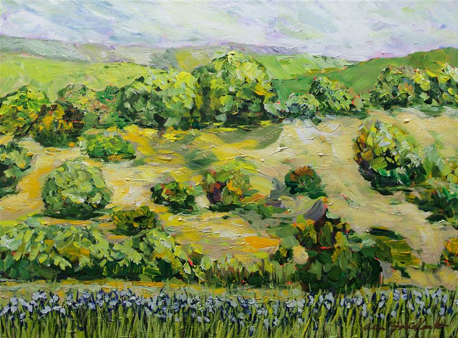 Discover Original Art by Allan P. Friedlander | Secret Mound acrylic painting | Art for Sale Online at UGallery