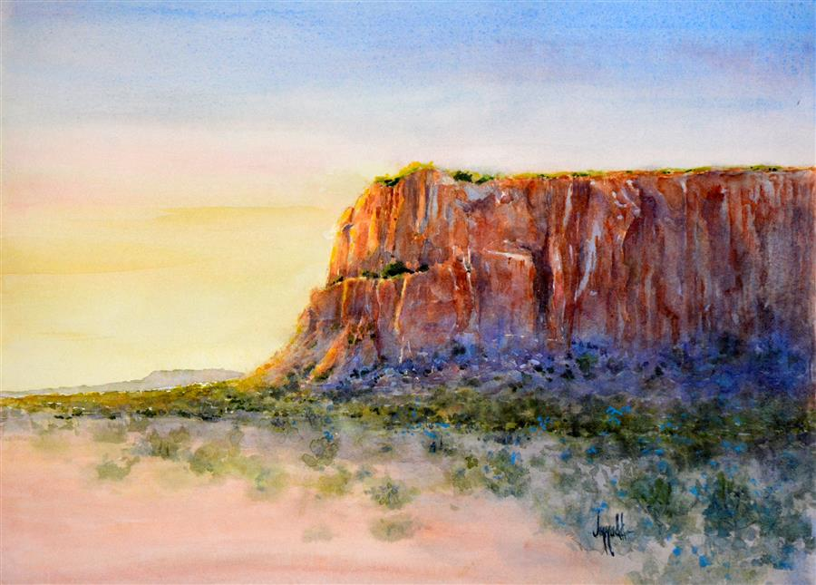 Discover Original Art by Judy Mudd | Mesa Mystique watercolor painting | Art for Sale Online at UGallery