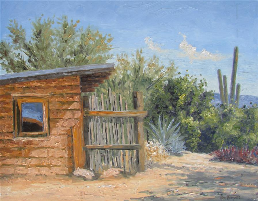 Discover Original Art by Ron Kenyon | Casa de Grazia oil painting | Art for Sale Online at UGallery
